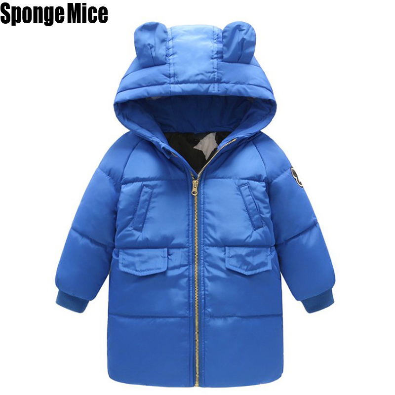 Children Clothes Baby Down Coat Jacket Winter Warm Jacket Baby Boys Girls Long Child Coat Snow Outerwear Zipper z408 children winter coats jacket baby boys warm outerwear thickening outdoors kids snow proof coat parkas cotton padded clothes