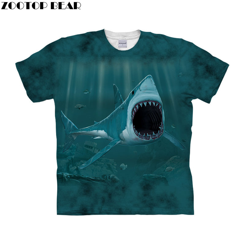 Anime Fish t shirt 3d t-shirt Men Women tshirt Short Sleeve tshirt Fashion Tee Unisex Top Male Streetwear Drop Ship ZOOTOP BEAR