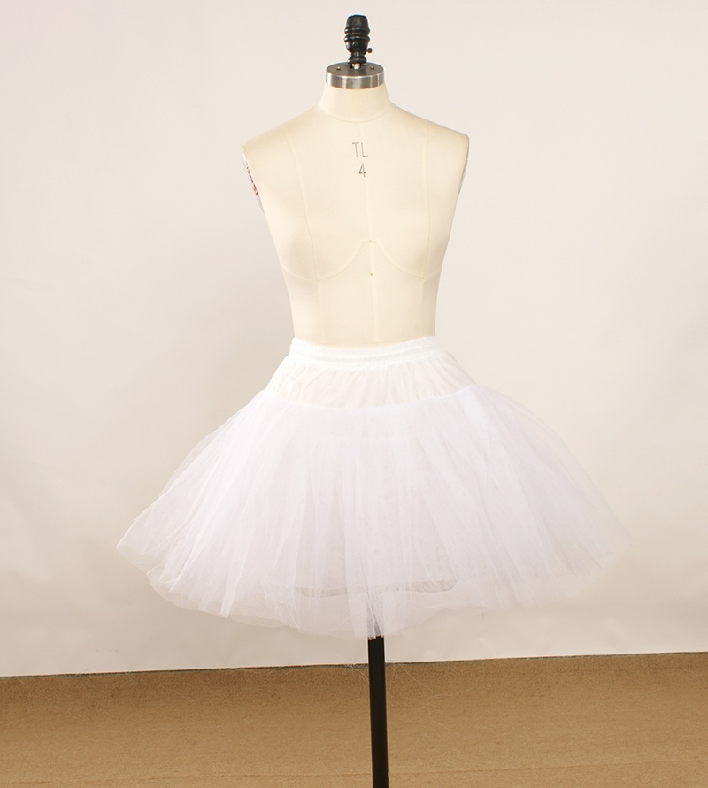 Hot sale four layers tulle white petticoat for wedding for Tulle petticoat for wedding dress