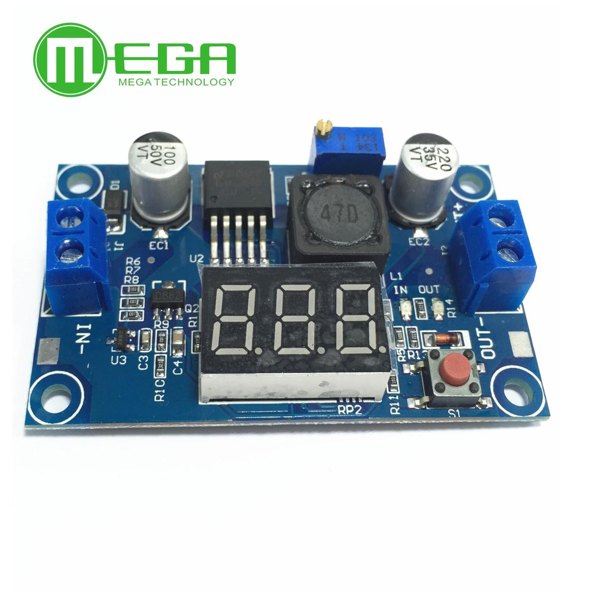10 stücke LM2596 modul DC 4.0 ~ 40 bis 1,3-37 V Einstellbar Step-Down Power Module + LED Voltmeter