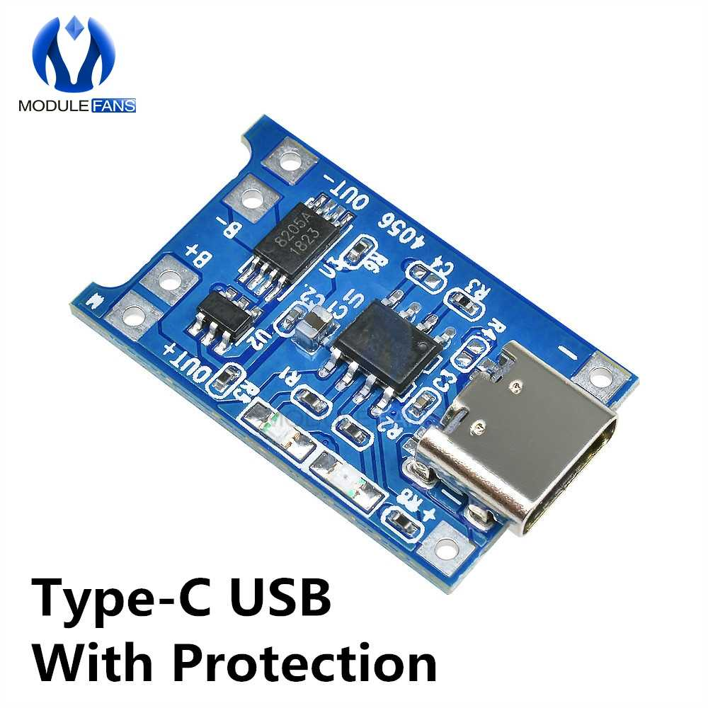TP4056 Type-c/Micro/Mini USB 5 فولت 1A 18650 شاحن بطارية ليثيوم وحدة شحن مجلس وظائف مزدوجة ليثيوم أيون TC4056A TC4056