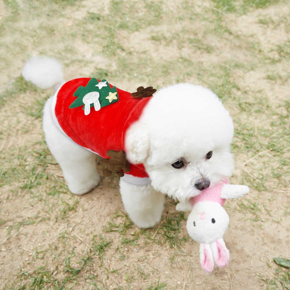 חג המולד חתול בגדי קטן כלבים חתולים סנטה תלבושות חתלתול גור תלבושת הסווטשרט חם לחיות מחמד כלב בגדי בגדי אביזרים