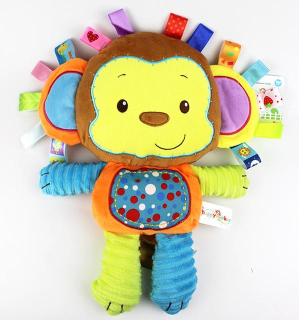 Plush Toys With Rattles Monkey Elephant Lion Rabbit
