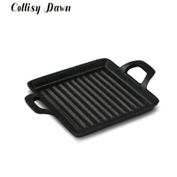14cm Cast Iron Mini Steak Frying Pan Universal Cooker Grill Steak Omelette None stick Without Cover