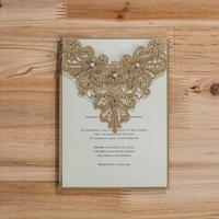 50pcs Lot Laser Cut Wedding Invitations With Pearl Flowers Birthday Party Invitation Card For Wedding Supplies