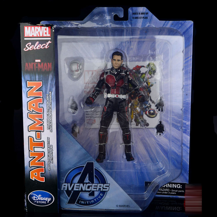 Marvel Select Superhero Ant-Man Action Figure Avengers Ant Man Hank Pym PVC Figure Toy фигурка ant man ant man yellow jacket pop marvel