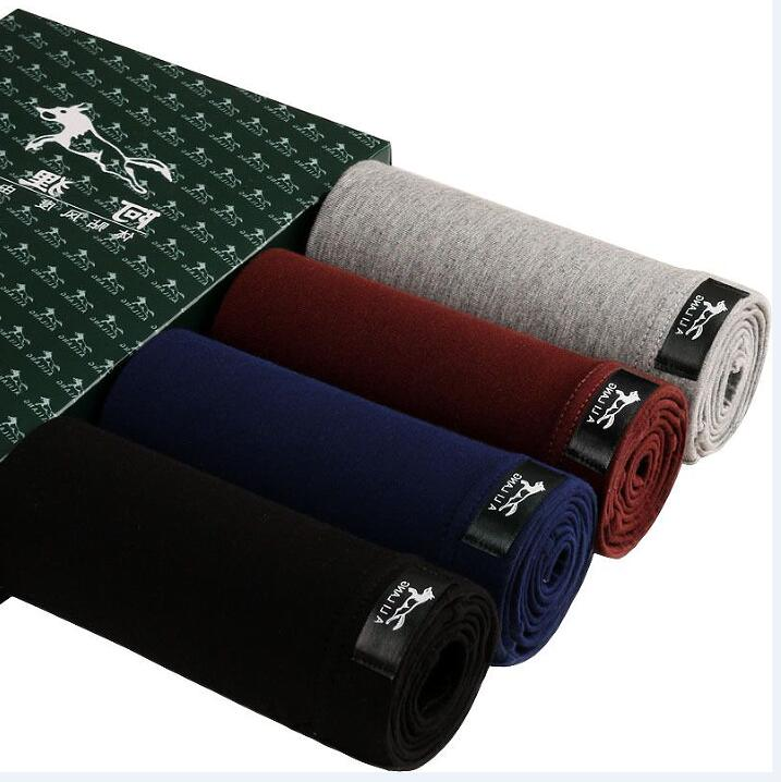 4pcs/lot Men UnderPants Boxers Man Thin Short Breathable Flexible Comfortable Shorts Boxers Solid  Male Underwear Set
