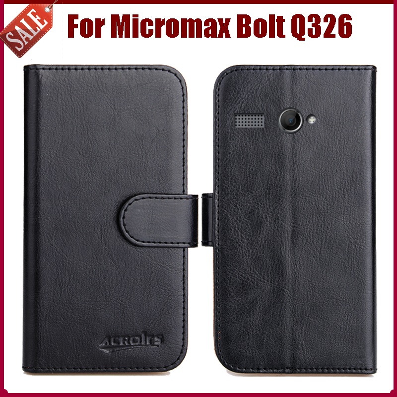 new photos 95b2c 813f6 US $4.59 8% OFF|Hot Sale! Micromax Bolt Q326 Case New Arrival 6 Colors  Luxury Flip Leather Protective Cover For Micromax Bolt Q326 Case-in Flip  Cases ...