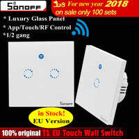 In Stock Sonoff T1 EU 1 2 Gang Wall Touch Smart Switch Panel Remote Control Wireless