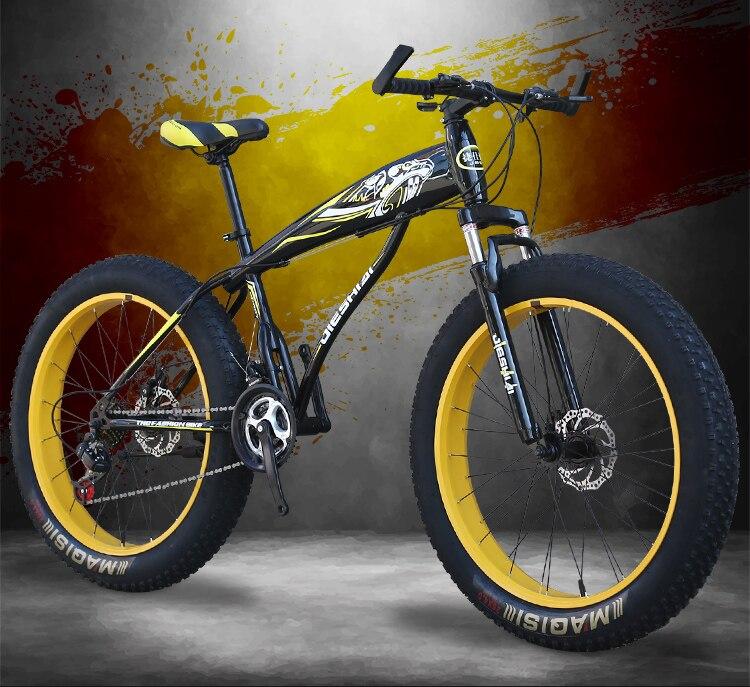 "HTB1cPeiHf1TBuNjy0Fjq6yjyXXap Youma new arrival 7/21/24/27 speeds Fat bike 26 inch 26x4.0"" Fat Tire Snow Bicycle free shipping"