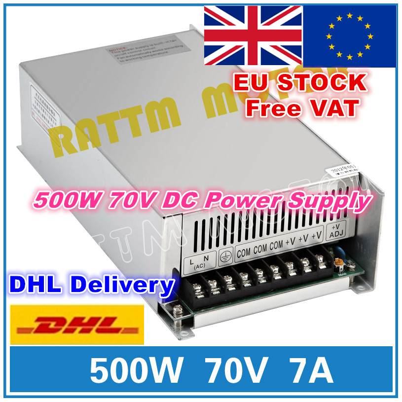 EU STOCK 500W 70V DC Switching Switch Power supply DC Power CNC Router Single Output