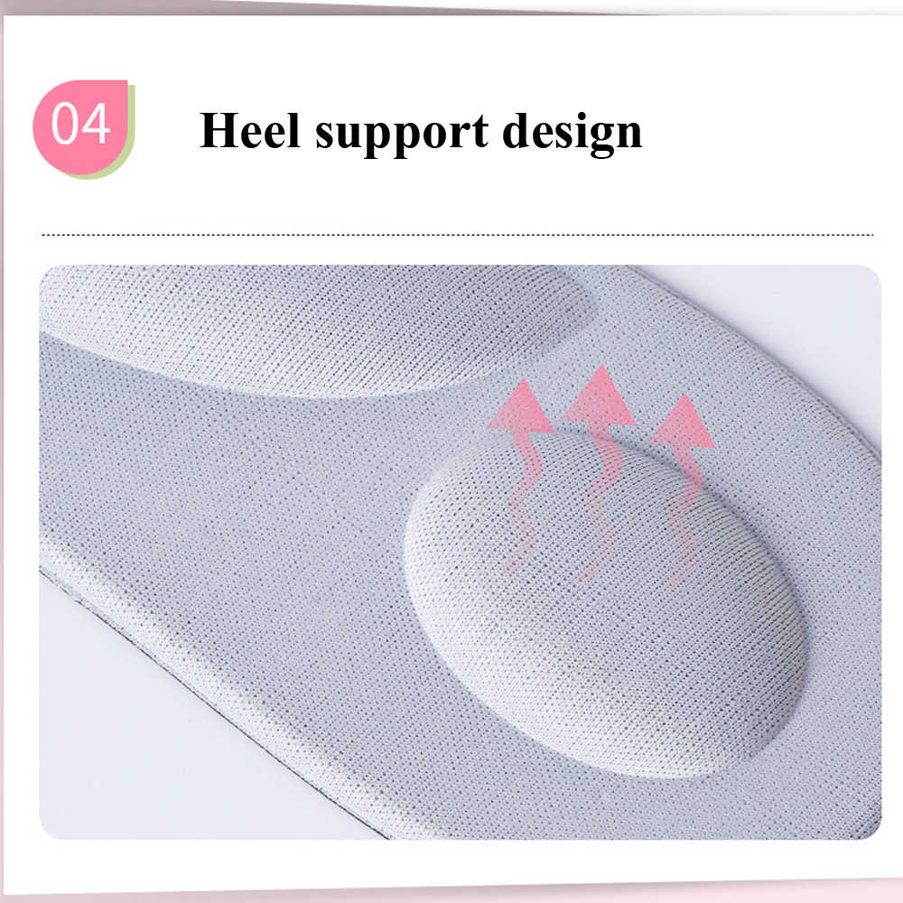 EID 4D Sponge Arch Supports High Heels Shoes Insoles Comfortable Orthopedic Pads for Women Ladies Massage Heel Insole Inserts