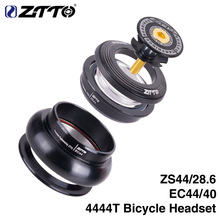 ZTTO 4444T MTB Bike Road Bicycle Headset 44mm ZS44 CNC 1 1/8-1 1/2 1.5 Tapered Tube Fork Internal Threadless EC44 Headset tito titanium alloy headset mtb bicycle parts cycling 1 1 8 straight head tube convert 1 5 taper fork 1 1 8 and 1 1 2 headset