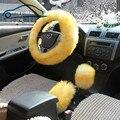 Cobrir no volante Lã longa Cobertura De Volante de Pelúcia Tampa Do Carro De Inverno de Lã Acessório