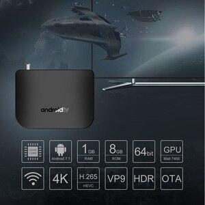 Image 2 - DVB T2/T S/S2 Terrestrischen Android 7.1 TV Box Combo Amlogic S905D Quad Core 64 bit 1 GB/8 GB Unterstützung 1080p 4K 30fps M8S PLUS DVB