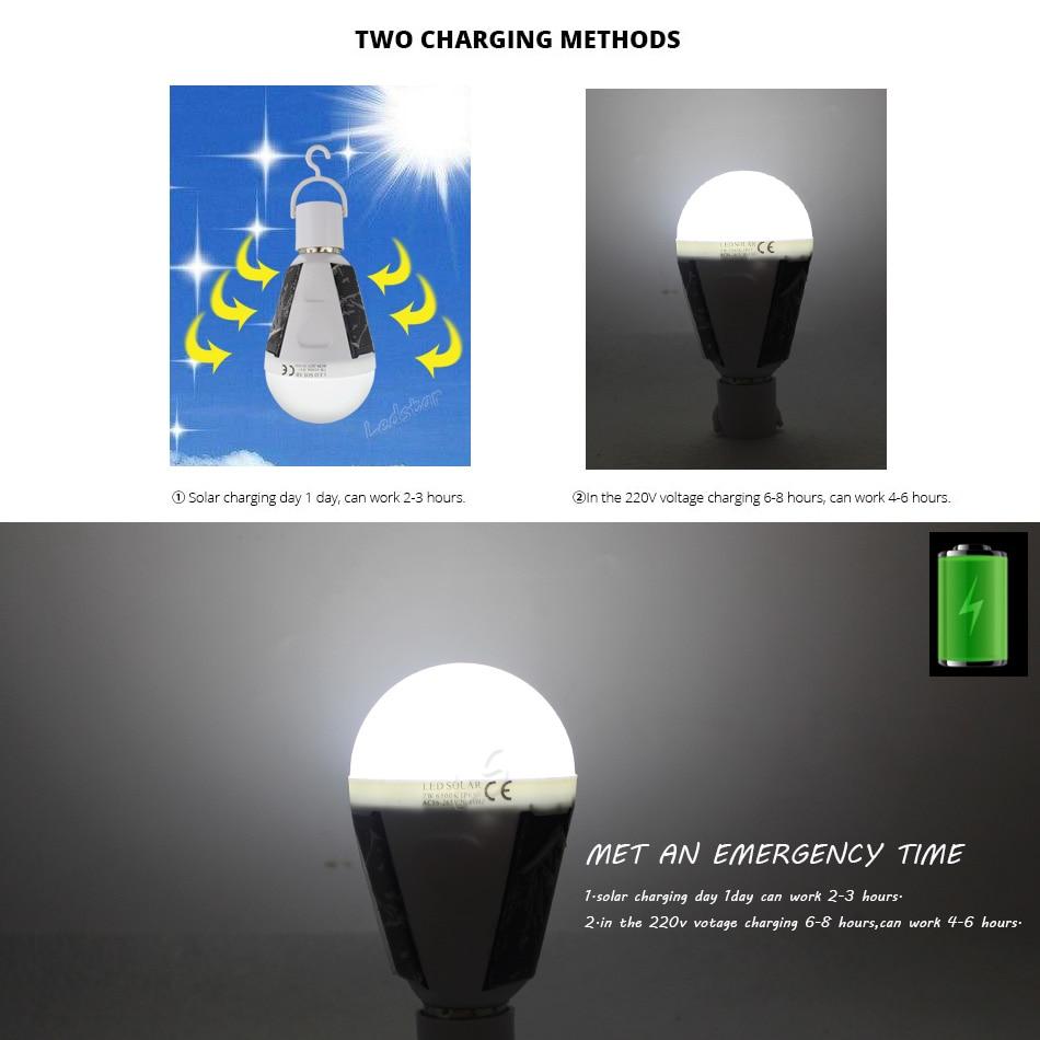 Solar Lights Led Bulb E27 Hanging Led Solar Lamp 7W 12W for Outdoor ...