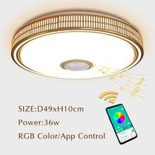 Cilalar Için Modern LED Avize Oturma odası Yatak odası Lampara techo Led Tavan Avizeler Aydınlatma Bluetooth Kontrolü Ile Lamba