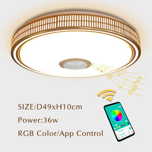 Image 1 - Lustres Modern LED Chandelier For Living room Bedroom Lampara techo Led Ceiling Chandeliers Lighting Bluetooth Control With Lamp