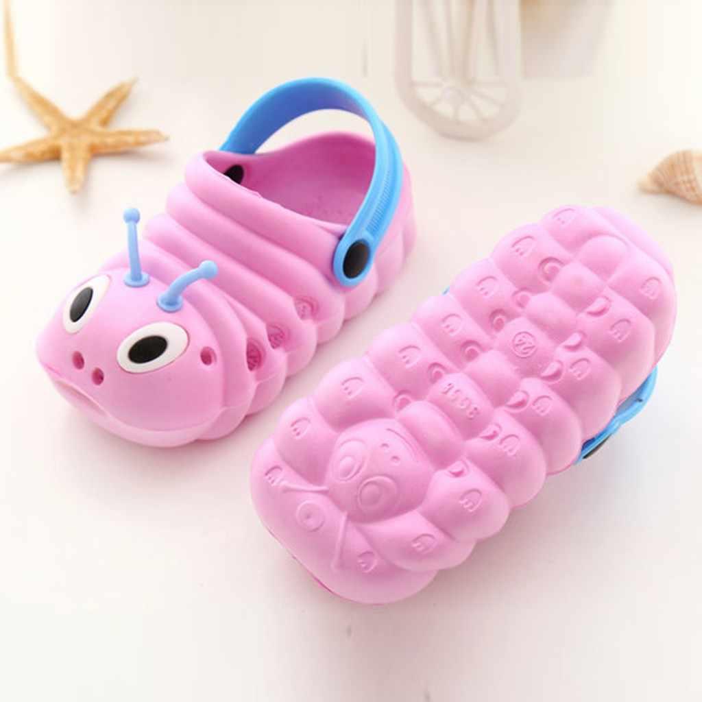 MUQGEW verano niño bebés niñas lindas sandalias de playa de dibujos animados zapatillas Flip Shoes verano niños zapatos # CL30
