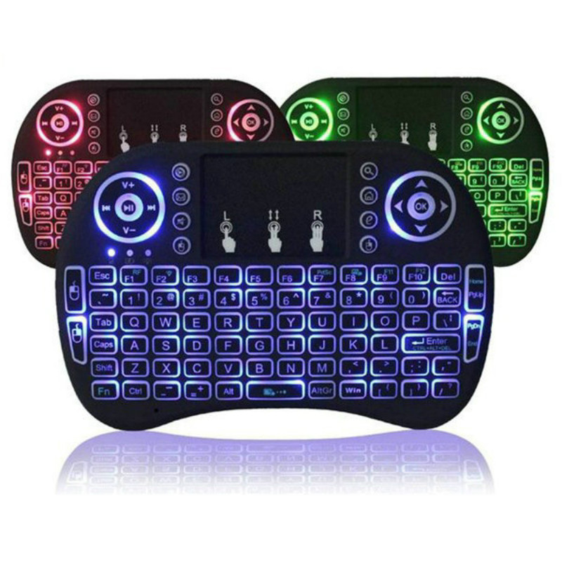 2.4ghz i8 Mini Wireless Keyboard English Russian 3 colour Air Mouse with Touchpad Remote Control Android TV Box new ru for lenovo u330p u330 russian laptop keyboard with case palmrest touchpad black