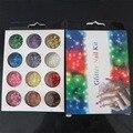 12 Colores Gran Porción ~ Chunky ~ 1mm Hex ~ Holográfica ~ Nail Art Glitter ~ Impresionante ~ hexagonal! 12 Ollas ~