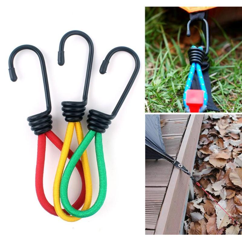 3pcs/set Outdoor Camping Rope Tightener Buckle Hook Fixed Bundle Straps Fixed Straps Tent Elastic Camping Accessories