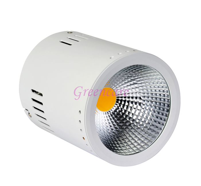 Bright 50W COB Surface Mounted LED Downlight 120LM/W Ceiling LED Down Light 10pcs/Lot  white warm white 3 years warranty the new super bright led built dimmable downlight cob 3w 5w mr16 gu10 led spot light led decoration ceiling lamp ac220 led lamp