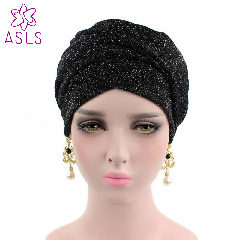 US $7 73 11% OFF|2018 New Fashion turban breathable mesh shimmer long scarf  head wrap women hijab tube head scarf tie for women-in Women's Hair