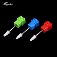 Tignish 1 шт. 3/32 »керамика Кукурузы форма ногтей бурильные долото фрезы для электрические сверла маникюр педикюр машина пилка