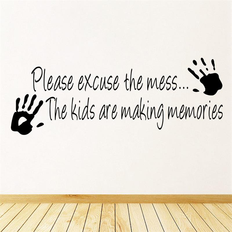 Wholesale Making Memories Vinyl Wall Sticker Home Decor Creative Quote Wall Decals Kids Room Removable