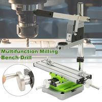 Multifunction Milling Machine Miniature High Precision Bench Drill Vise Fixture Worktable X Y Axis Adjustment Coordinate