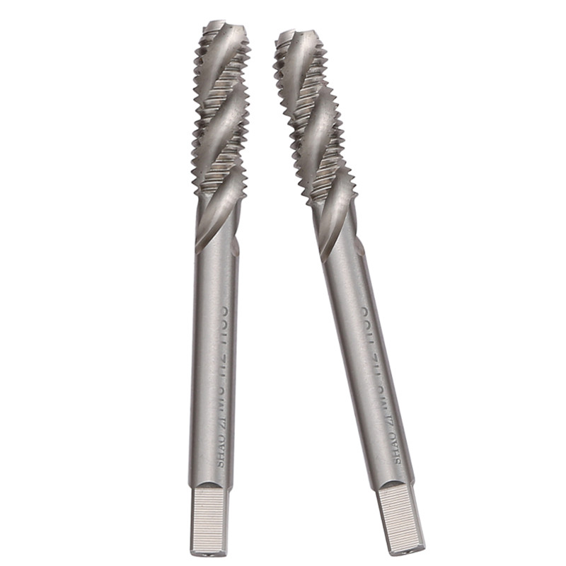 10 Pcs M8 Spiral Groove tarauds Machine HSS Spiral pointu robinets métrique tapant vis fil taraud outils à main