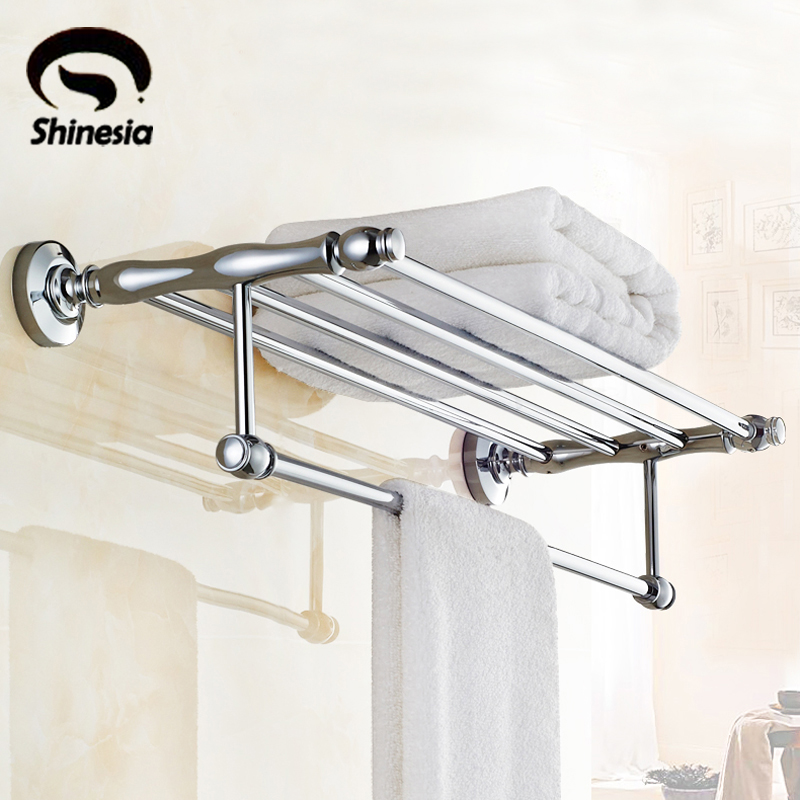 Chrome Polished Bathroom Towel Rack Towel Bar Towel Shelf Bathroom Accessories Wall Mount скамья для скручиваний jw sport eh 035