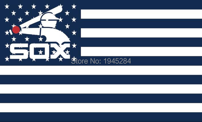 MLB Chicago White Sox with Modified US Flag Banner New 3x5ft 90x150cm Polyester 8807, free shipping
