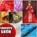 Tecido damasco tecido cheongsam hanfu traje cosplay do quimono tang pano série dragão tecido tapeçaria de cetim de seda material de vestuário