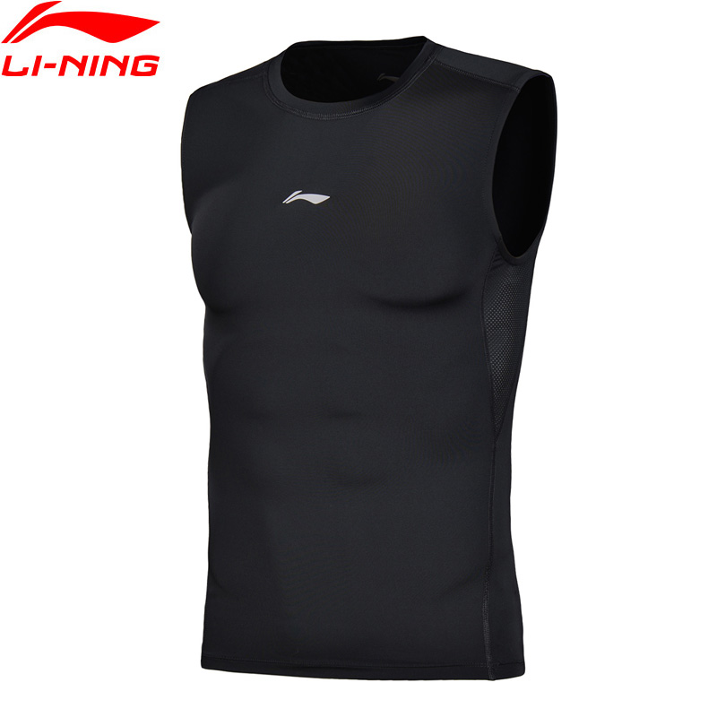 Li-Ning Men Professional Vests Tight Fit Quick Dry Breathable LiNing Sports Comfort Sleeveless Tops AUDN019 MBJ115