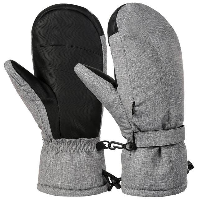Vbiger Мужские Женские теплые зимние лыжные перчатки на открытом воздухе спортивная перчатка утолщенные холодные погодные перчатки ветрозащитные зимние сноубордические перчатки