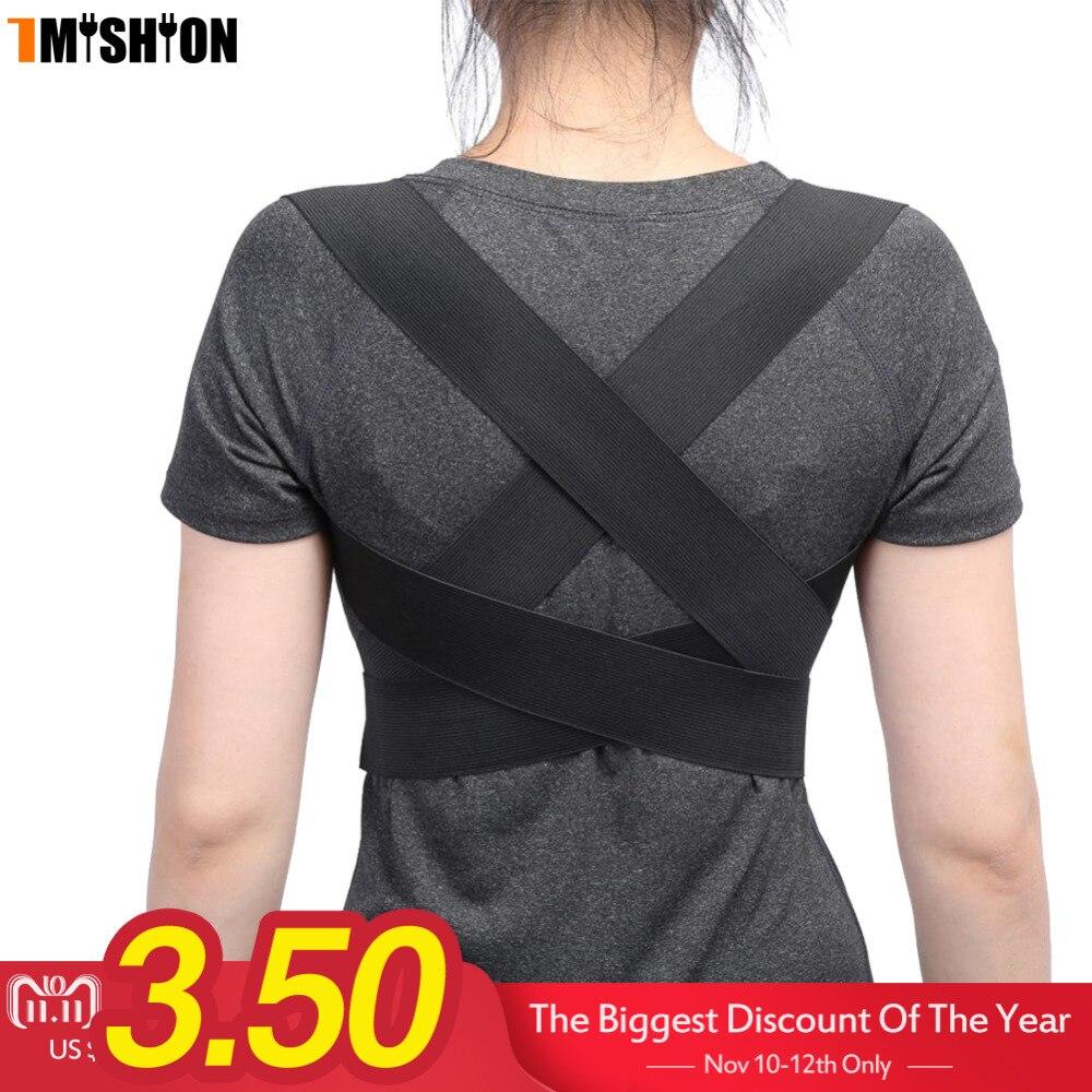 Posture Corrector Back Brace Support Spine Back Corset Belt Shoulder Therapy Support Poor Posture Correction Belt For Men Women цена
