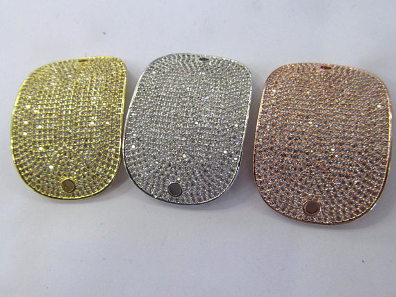 AA+ micro pave Diamond Crystal Micro Crystal Pave CZ rectanlge curved bracelet connetor Jewelry beads 30x40mm 2pcsAA+ micro pave Diamond Crystal Micro Crystal Pave CZ rectanlge curved bracelet connetor Jewelry beads 30x40mm 2pcs