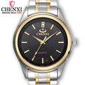 Часы CHENXI мужские  повседневные  из нержавеющей стали  золотые  кварцевые