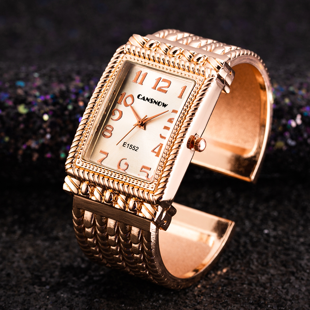 Women Rose Gold Bangle Bracelet Watch 2019 New Luxury Ladies Rectangle Dress Quartz Watches Clock Bayan Kol Saati