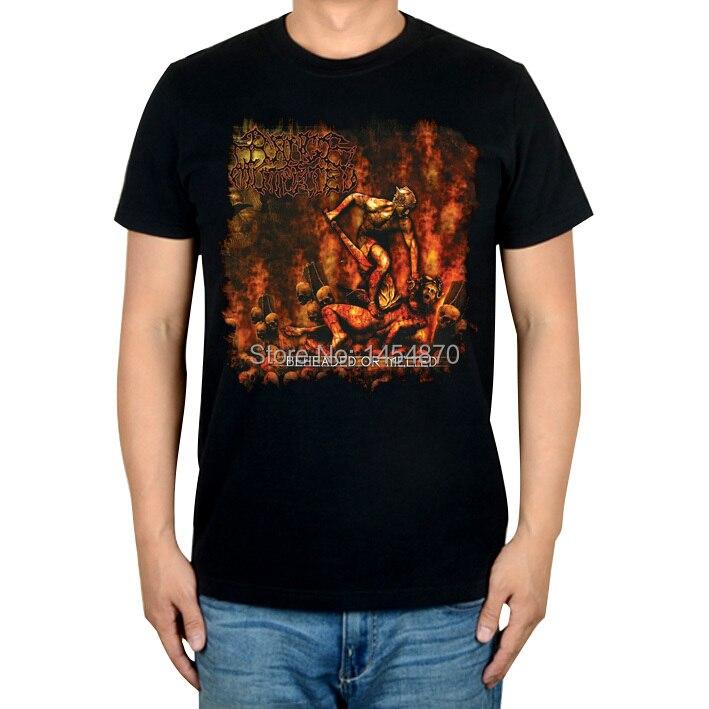 Ужасный диапазон мутилированной рок брендовая футболка высокого качества хлопок Панк thrash фитнес тяжелый рок металлические черные рубашки Camiseta Ropa