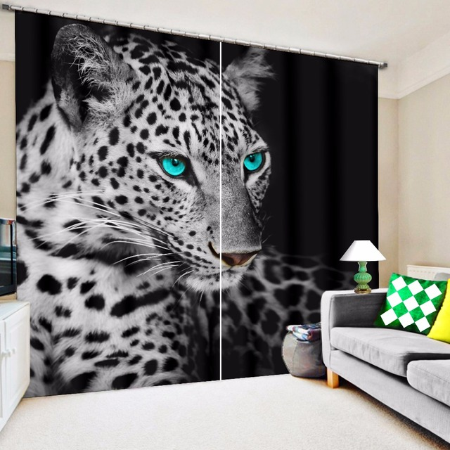 Curtains Ideas commercial curtains and drapes : Aliexpress.com : Buy 3D Leopard Blue Eyes Print Custom Design ...