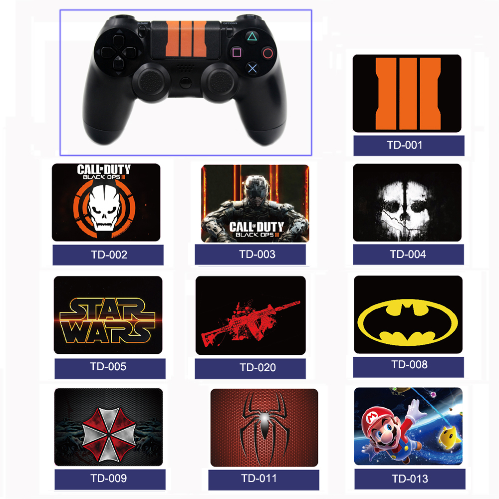 2 pcs Touchpad Decal Skin Stickers For PS4 Playstation 4 Controller Sticker