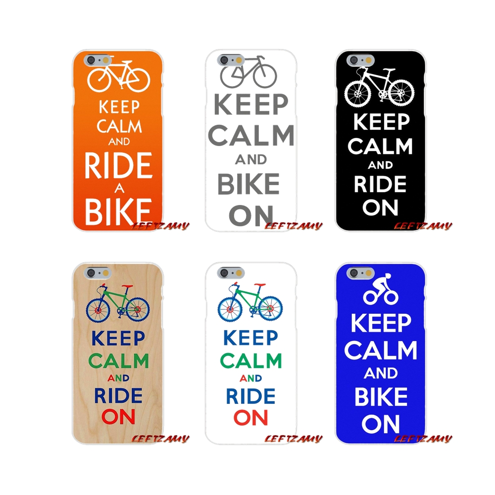For Samsung Galaxy S3 S4 S5 MINI S6 S7 edge S8 S9 Plus Note 2 3 4 5 8 Love keep calm and bike on Soft Phone Case Silicone