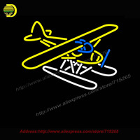 Piper Cub Float Plane Neon Sign Automotive Neon Bulb Neon Sign Garage Glass Tube Handcrafted Free