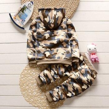 Camouflage Hooded Clothing Set 1