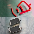 ALUMINUM RADIATOR & SILICONE HOSE For HONDA CR250R CR 250 2-STROKE 2005-2007  motorcycle engine cooling parts
