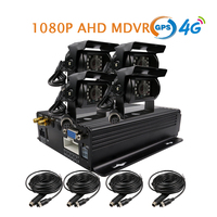 Gratis Verzending NIEUWE 4CH GPS 4G 1080 P AHD 256 GB SD Mobiele Auto DVR MDVR Video Recorder Telefoon PC Realtime Monitor 4 x Duty Auto Camera