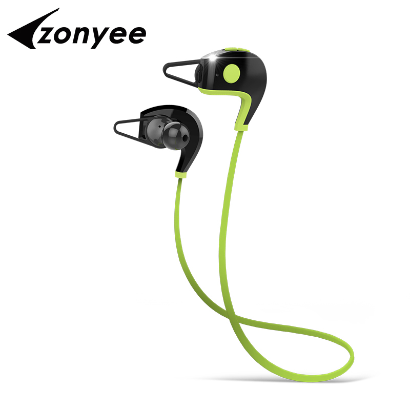 Zonyee A11 Sports Bluetooth Headset CSR4.1 Wireless Waterproof Headphones In-ear Stereo Earphones with Mic for iPhone Android superior quality wireless bluetooth neckband sports mic in ear headset headphones for iphone 6 7 mar20